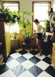 Painted Wood Floors, Wooden Flooring, Kitchen Flooring, Painted Tiles, Hardwood Floors, Maple Flooring, Penny Flooring, Flooring Cost, Linoleum Flooring