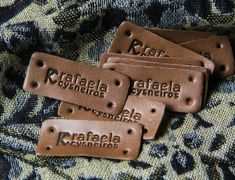 Dog Tags, Dog Tag Necklace, Leather, Round Corner, Custom Items, Hand Stitching, Handmade Crafts, Tags
