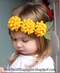 flower headband... @Amanda Greer you need to do this for Stella!
