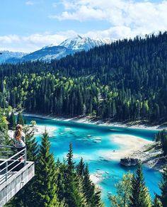 Flims Caumasee, Switzerland By ©: @Nanja__  via @Worldtravelbook  #Switzerland_Vacations #. Find us on Facebook, link in our bio