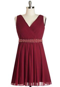Glitz and Grandeur Dress in Ruby