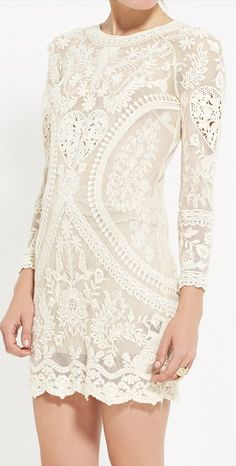 cotton lave ivory dress