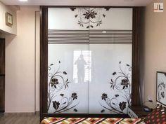 Converted Into Mumbai Glass Sliding Wardrobe Design Pooja Room Door Design, Bedroom Door Design, Bedroom Cupboard Designs, Bedroom Furniture Design, Bedroom Cupboards, Bedroom Decor, Wardrobe Interior Design, Wardrobe Design Bedroom, Door Design Interior