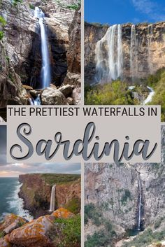 There are many scenic waterfalls in Sardinia. Read this post to find out more about the most beautiful Sardinia waterfalls - including tips on when to visit and how to get there | Sardinia | Visit Sardinia | Travel to Sardinia | #sardinia #traveltips via @c_tavani