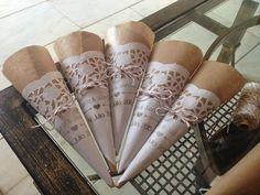 Blog de bodas - Yo dire que si: Conos para arroz, confeti o pétalos en tu boda DIY. Tutorial.
