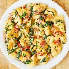 Creamy Mozzarella Sun-Dried Tomato Basil Spinach Tortellini - Julia's Album