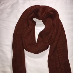 Russet Toned Cotton Scarf beautiful russet toned scarf perfect for those super cold winters! stretches to be the length of two arms so you can work your way around the scarf with many different options! can be a scarf, a shall, a wrap around, any improvision to your style! super cute and super soft! worn one time! Forever 21 Accessories Scarves & Wraps