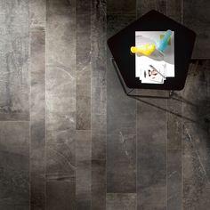 Daltile - Porcelain color body tile, major color variation from tile to tile. Looks beautiful in & in random staggered brickwork, with light grout. Looks like stone. Concrete Look Tile, Stained Concrete, Ceramic Floor Tiles, Porcelain Tile, Dal Tile, Open Layout, Floor Patterns, Neutral Colour Palette, Brickwork