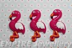 2 X Stunning Pink Flamingo Resin Flatback 35x20mm Cabochon Rockabilly Kawaii | eBay