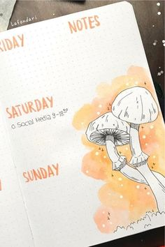 Check out the best mushroom themed bullet journal spreads and ideas for inspiration! Bullet Journal September, Bullet Journal Monthly Spread, Bullet Journal Aesthetic, Bullet Journal Writing, Bullet Journal School, Bullet Journal Ideas Pages, Bullet Journal Inspiration, Organization Bullet Journal, Journal Themes