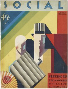Cover of February 1929 issue of Social magazine, illustrated by Jose Manuel Acosta.  Courtesy The Wolfsonian-FIU