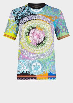 b7d39c70 Versace Women's Technicolor Baroque Print T-Shirt for Women | US Online  Store