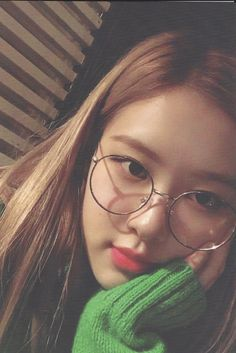 """ [SCAN] 190129 Rosé in Official Korean BLINK Kit© 제과점"" Kpop Girl Groups, Kpop Girls, Blackpink And Bts, Respect, Blackpink Jisoo, Monsta X, Manga, Glasses, Got7"
