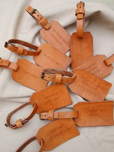 How cute are these??!! Reminds me of the vintage luggage tags my Grandmother and mother had from the 70's :)