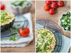 Gemüse Quiche frühlingszwiebel light tarte tomato summer marylicious