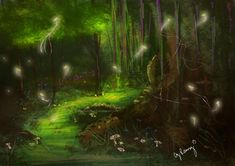 fairy artwork deviant | Fairy Forest speed painting by AmandaRamsey