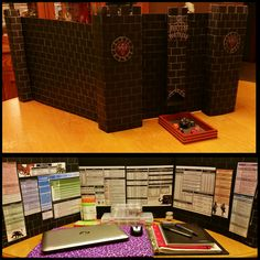 Dungeon Master Screen (LARGE) made from black posterboard ~Ms.Fortune (HouseSeemuthDeSigns.com)