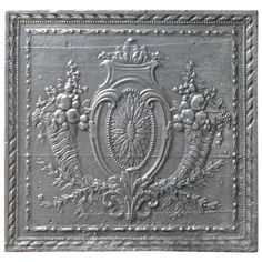 Magnificent 18th Century Fruits of Summer Fireback | From a unique collection of antique and modern fireplaces and mantels at https://www.1stdibs.com/furniture/building-garden/fireplaces-mantels/