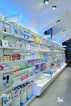 Sartoretto Verna pharmacy fittings - Ral System 5 patented pharmacy furniture series   Pharmacy design Sartoretto Verna