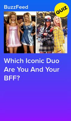 Name a more iconic duo. Quizzes Funny, Girl Quizzes, Fun Online Quizzes, Quizzes Buzzfeed, Bff Quizes, Movie Duos, Aesthetic Quiz, Best Friend Quiz, Fun Quizzes To Take