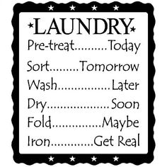 decal vinyl laundry quote