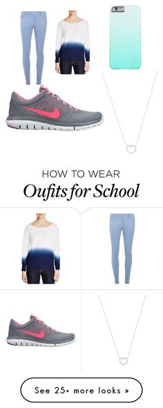 """Back to school"" by alj062003 on Polyvore featuring Dorothy Perkins, Three Dots, Tiffany & Co., NIKE, women's clothing, women, female, woman, misses and juniors"
