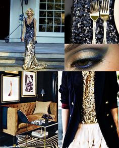 All Things Lovely and their navy-gold-glam inspiration.   Eye. Candy.