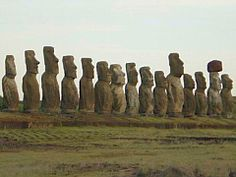 Moai mystery.The massive heads differ in design, some statues even have hats, others have complex eyes (built from multiple pieces of rocks), others have hands.  Rano Raraku Volcano, where you'll find a picturesque landscape with lots of stone heads spread across it.