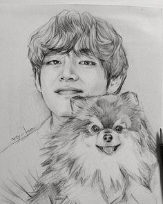 Art Drawings Beautiful, Cool Art Drawings, Realistic Drawings, Art Drawings Sketches, Drawing Ideas, Black Paper Drawing, Boy Drawing, Kpop Drawings, Cartoon Drawings