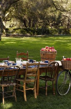 Community table: Pull up a chair for farm to table outdoor dining and endless bushels of apples