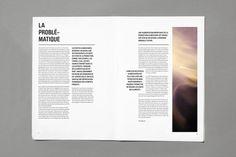 Mise en page, magazine graphique, gaspillage alimentaire, la problèmatique, graphisme, typographie: