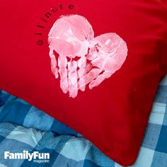 A Handy, Hearty Keepsake: Here's a sweet project that lets kids personalize a pillowcase.