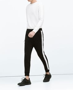 Image 2 of TROUSERS WITH SIDE STRIPE from Zara