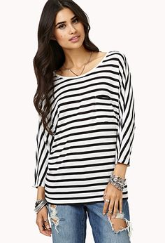 Everyday Striped Tee | FOREVER21 - 2002245981