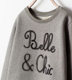 ZARA - KIDS - GLITTER SWEATSHIRT WITH EMBROIDERED DETAIL