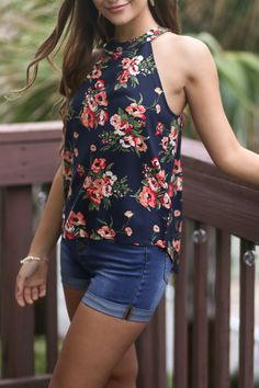 c1292e8fcb32 Fashion Women Summer Floral Vest Top Sleeveless Blouse Casual Tank Tops T-  Shirt