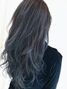 - All For Hair Color Trending Long Hair Highlights, Hair Color Streaks, Hair Dye Colors, Hair Color Blue, Ash Blue Hair, Aesthetic Hair, Dyed Hair, Hair Inspiration, Hair Makeup
