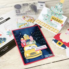 Love Santa Tag Kit and a Fairytale of New York Yellow Taxi Card By Mikaela Titheridge, The Crafty oINK Pen. UK Independent Stampin' Up! Demonstrator. Buy your Stampin' Up! Products through my online store and use my Shopping Code at checkout for a Free Gift from me and a FREE Download of the All Star Tutorial Bundle. More info on my blog. Cards For Friends, Merry And Bright, Taxi, Free Gifts, Fairytale, Stampin Up, Card Ideas, Xmas, Santa