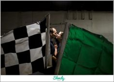 Go Kart Engagement Session, Racing Engagment Shot, Engagement Photography, Wedding Photography, Shmily Face Photography