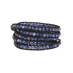 The small blue sodalite beads in dark brown cord make the Lauren wrap a fantastic choice to wear with denim.   Love it!