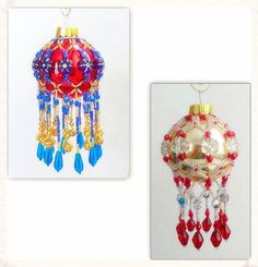 Instant PDF Download Tutorial: Fringe Beaded Mini Christmas Ornament Cover at Bead-Patterns.com