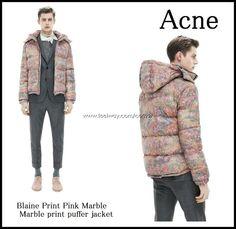 Acne – Blaine Jacket Print Pink Marble -