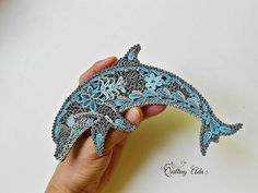 Quilled paper dolphin  paper art  abstract dolphin  home