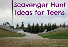 Teenage Scavenger Hunt Ideas - Moms & Munchkins