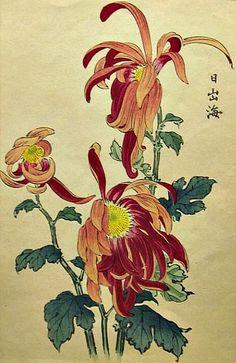Chrysanthemums by Keika Hasegawa (Japanese)