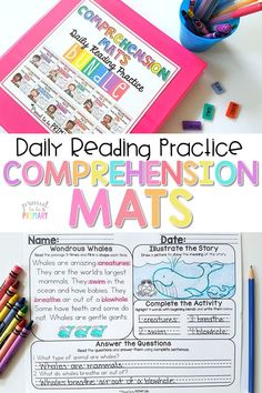 Comprehension Mats provide teachers with reading passages and follow-up activities to help build student fluency and comprehension skills. Use for classroom literacy centers, morning work, and small groups. #readingcomprehension #teachreading #reading #earlyliteracy #readingfluency