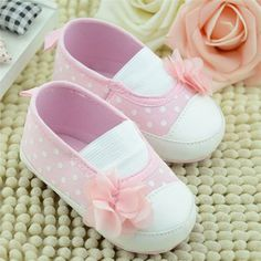 >> Click to Buy << Baby Girls Shoes Cute Infant Toddler Flower Decoration Polka Dot Crib First Walkers Soft Sole Kid Girls Baby Shoes  #Affiliate