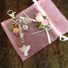 #rosequartz #angel bag charm. Many thanks to my lovely customer! #vine
