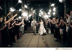 I always thought sparklers were great for night time weddings :-)