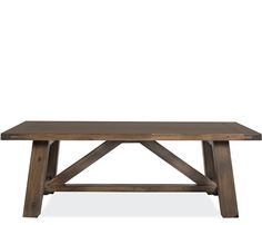"""Sinclair Rectangle Coffee Table - Constructed of solid acacia wood, the Sinclair tables come stocked in a walnut finish. Additional pieces available by special order. <span style=""""font-weight:"""
